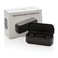 Oordopjes bedrukken Free Flow TWS oordoppen in oplaadcassette P329.04