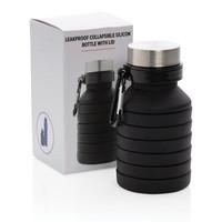 Waterflessen bedrukken Lekvrije opvouwbare siliconen fles met schroefdop P432.62