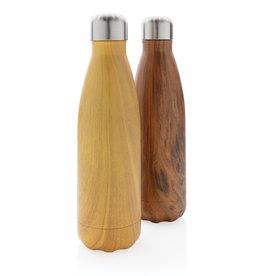 Waterflessen bedrukken Vacuüm roestvrijstalen fles met houtdessin P436.48
