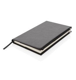 Notitieboekjes bedrukken Swiss Peak A5 PU notitieboek met ritsvak - P774.141