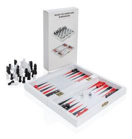 KINDERGESCHENKEN bedrukken Luxe 3-in-1 bordspel in houten doos P940.05