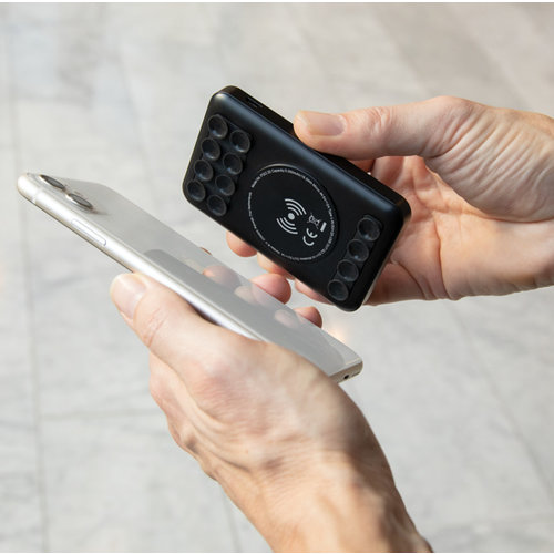 Powerbank bedrukken 5.000 mAh draadloos opladen zakformaat powerbank P322.20