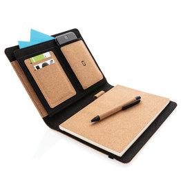 Schrijfmappen bedrukken Deluxe kurken A5 portfolio met pen P774.12