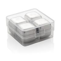 Keukengerei bedrukken Herbruikbare RVS ijsblokjes 4st P911.08