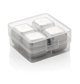 Keukengerei relatiegeschenk Herbruikbare RVS ijsblokjes 4st P911.08