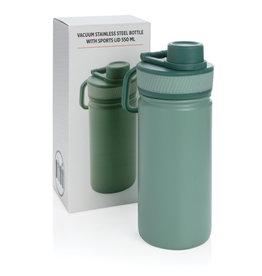 Waterflessen bedrukken Vacuüm roestvrijstalen fles met sportdop 550ml P436.19