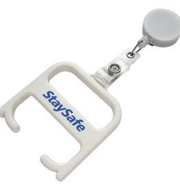 Corona preventie gerelateerde relatiegeschenken Hygiënesleutel met rollerclip 210255