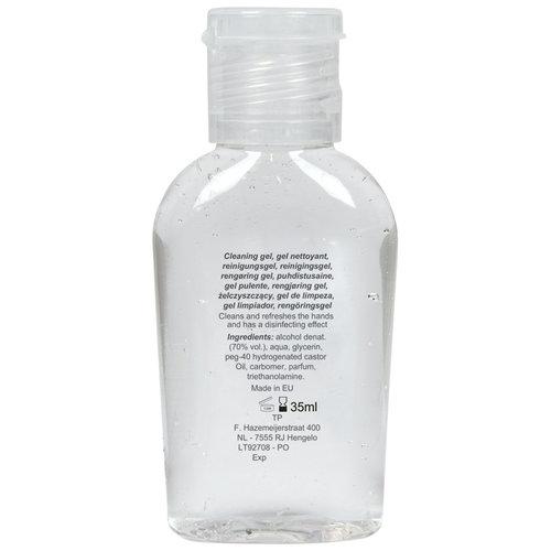 Corona preventie gerelateerde relatiegeschenken Desinfecterende handgel Made in Europe 35ml - LT92708