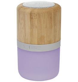 Speakers bedrukken Aurea bamboe Bluetooth®-speaker met licht