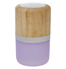 Speakers relatiegeschenk Aurea bamboe Bluetooth®-speaker met licht