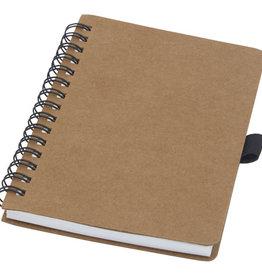 Notitieboekjes bedrukken Cobble A6 wire-o gerecycled kartonnen notitieboek met steenpapier