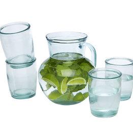 Glazen bedrukken Terazza 5-delige glazenset van gerecycled glas