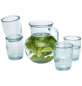 Glazen relatiegeschenk Terazza 5-delige glazenset van gerecycled glas