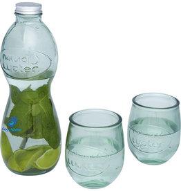 Glazen bedrukken Brisa 3-delige glazenset van gerecycled glas