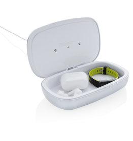 Opladers relatiegeschenk Rena UV-C sterilisatie box met 5W draadloze oplader