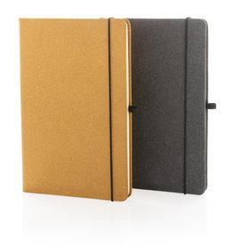 Notitieboekjes bedrukken Recycled lederen hardcover notitieboek A5