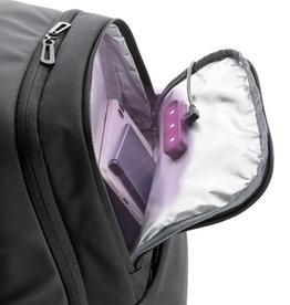 Laptoptassen relatiegeschenk Swiss Peak laptop rugzak met UV-C sterilisatie vak