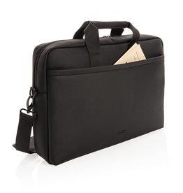 Laptoptassen bedrukken Swiss Peak deluxe vegan lederen laptop tas PVC vrij