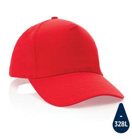 Caps relatiegeschenk Impact 5 panel 190gr gerecycled katoenen cap met AWARE™ trac
