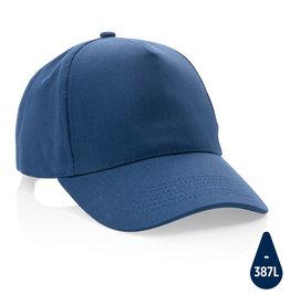 Caps relatiegeschenk Impact 5 panel 280gr recycled katoenen cap met AWARE™ tracer