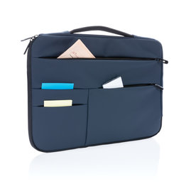 "Laptoptassen relatiegeschenk Smooth PU 15.6"" laptop sleeve met handvat PVC-vrij"
