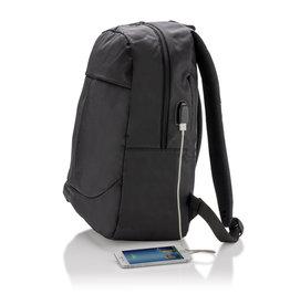 Laptoptassen bedrukken als relatiegeschenk Power USB laptop rugtas PVC Vrij