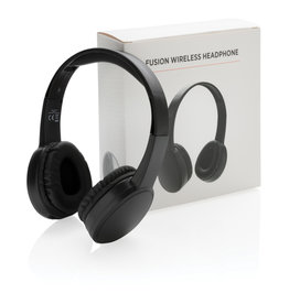 Hoofdtelefoons relatiegeschenk Fusion draadloze hoofdtelefoon