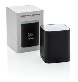 Speakers relatiegeschenk Light up logo draadloze 3W speaker