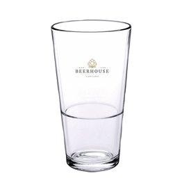 Glazen relatiegeschenk Bierglas Vaasje Stapelbaar 340 ml 1068