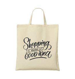 Relatiegeschenk bedrukken ShoppyBag (135 g/m²) korte hengsels winkeltas 3019
