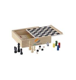 KINDERGESCHENKEN bedrukken WoodGame 5-in-1 spel 4353