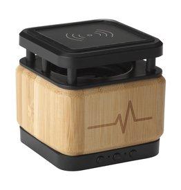 Bamboo Block Speaker met draadloze oplader 5893
