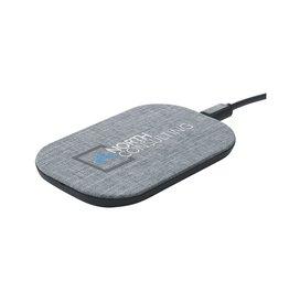 Opladers bedrukken als relatiegeschenk Paxton RPET wireless charger 10W draadloze oplader 6482