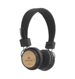Hoofdtelefoons bedrukken als relatiegeschenk ECO Bamboo wireless headphone koptelefoon 8014