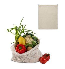 Boodschappentas Herbruikbaar groente & fruit zakje OEKO-TEX® katoen 40x45cm