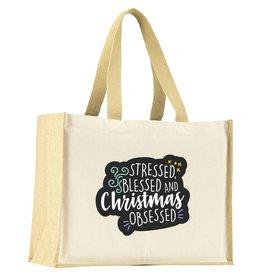 Boodschappentas relatiegeschenk Boodschappentas Jute Canvas Shopper tas CL0783