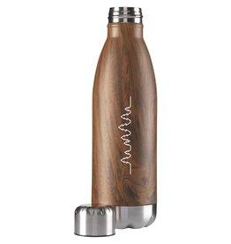 Waterflessen bedrukken als relatiegeschenk Waterfles Topflask Wood 500 ml