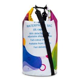 Strandtassen relatiegeschenk Custommade waterafstotende tas 10L