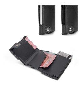 RFID Relatiegeschenk  bedrukken RFID kaarthouder met leerlook hoes