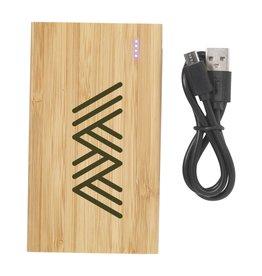 Powerbank bedrukken Bamboo 4000 Powerbank externe oplader 6458