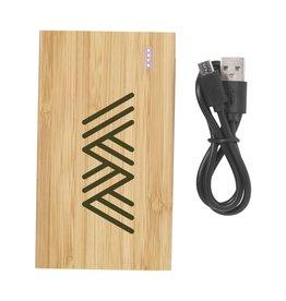 Powerbank bedrukken als relatiegeschenk Bamboo 4000 Powerbank externe oplader 6458