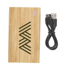 Powerbank relatiegeschenk Bamboo 4000 Powerbank externe oplader 6458