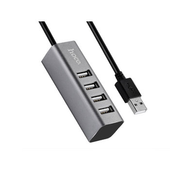 Hoco Hoco Charge&Synch 4 poorts HUB Cable - USB-A
