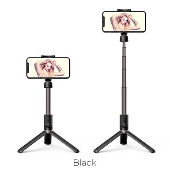 Hoco Hoco Bluetooth Wireless Tripod Selfie Stand with Remote - Black