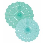 GREEN TISSUE PAPER FAN SET