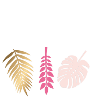 PINK DECO LEAVES
