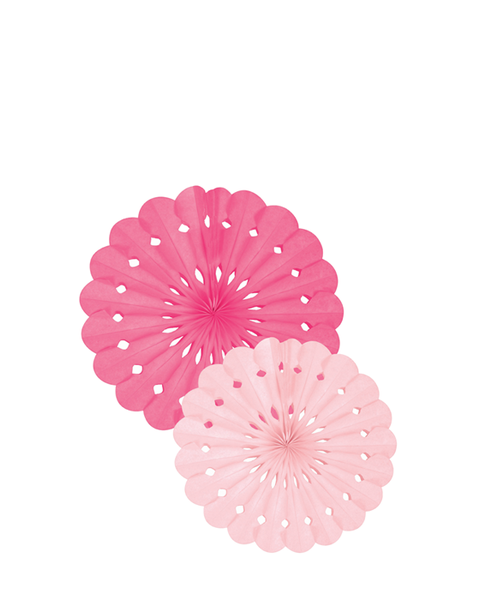 PINK TISSUE PAPER FAN SET