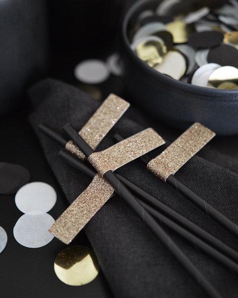 20 BLACK GOLD TASSEL GARLAND