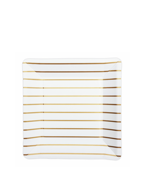 GOLD STRIPED PLATES