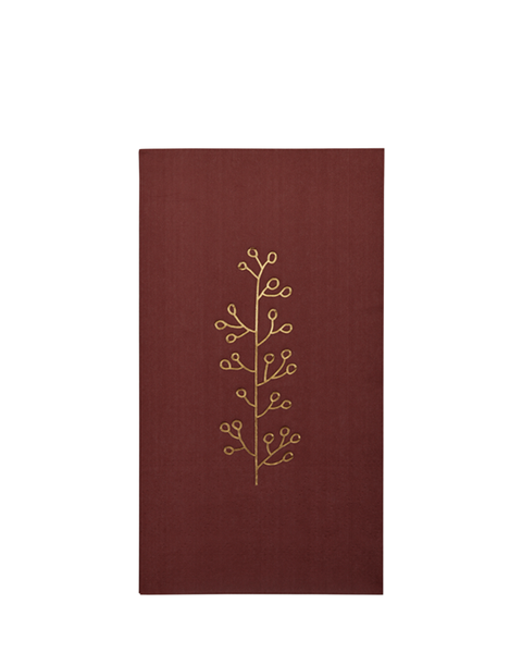 NAPKINS RUSTY RED